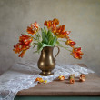 Ornamental tulip still life - Stock Photo