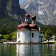 St. Bartholomae at the Koenigssee - Stock Photo