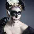 Skull Makeup — Stock Photo