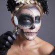 Skull Makeup - Stock Photo