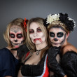 Women in Halloween costume — Stock Photo