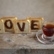 Toasted Love - Stock Photo