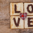 Toasted Love — Stock Photo