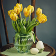 Still Life with Yellow Tulips — Stock Photo
