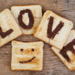 Royalty-Free Stock Photo: Toasted Love