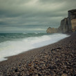 Beach of Etretat — Foto Stock