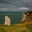 Cliffs at Etretat France — Stockfoto