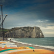 Beach of Etretat — Stock Photo