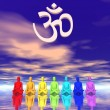 Chakras in meditation — Stock Photo #13861981
