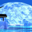Romantic piano — Stock Photo