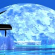 Romantic piano — Foto Stock