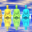 Stock Photo: Chakras in meditation
