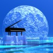 romantyczny fortepian — Zdjęcie stockowe