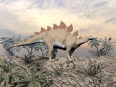 Vigilent stegosaurus — Stock Photo