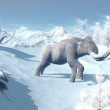 Mammoths walk in the wind — Stock Photo