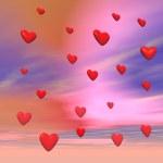 Love in the sky - 3D render — Stock Photo #15579865