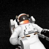 Astronaut in space - 3D render — Stock Photo