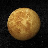 Venus planet and stars - 3D render — Stock Photo