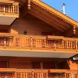 Wooden chalet - Stock Photo