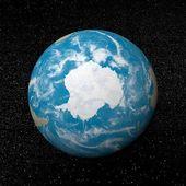 地球の 3 d レンダリングに南極 — ストック写真