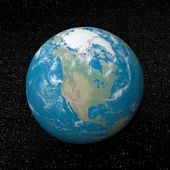 North america on earth - 3D render — Stockfoto