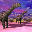 Stock Photo: Argentinosaurus dinosaurs - 3D render