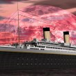 Titanic boat by sunset - 3D render — Foto de Stock