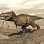 Постер, плакат: Tyrannosaurus running 3D render