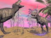 Tyrannosaurus argue - 3D render — Stock Photo