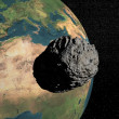 Meteorite going to earth — Stock Photo #21214547