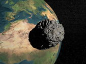 Meteorite going to earth — Stock Photo