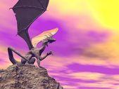 Quiet dragon - 3D render — Stock Photo
