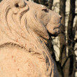 Lion guarding Brunswick monument, Alps garden, Geneva, Switzerla — Stock Photo