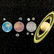 Solar system - 3D render - Stock Photo