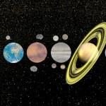 ������, ������: Solar system 3D render