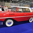 Red and white Amphicar - Foto Stock