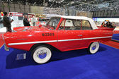 Red and white Amphicar — Stock Photo