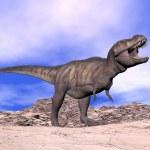Постер, плакат: Tyrannosaurus shouting 3D render