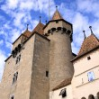 Old castle, Aigle, Vaud, Switzerland - Stock Photo