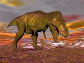 Tyrannosaurus shouting - 3D render — Stock Photo