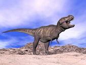 Tiranosaurio gritando - 3d render — Foto de Stock