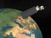 Aqua satellitare 3d - rendering — Foto Stock