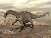 Dicraeosaurus dinosaur walking - 3D render — 图库照片