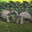 Galapagos tortoises kiss - 3D render — Stock Photo
