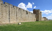 Fortification wall, Aigues-Mortes, France — Stock Photo