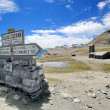 Top of Iseran pass, France — Stock Photo
