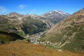 Val d'Isere from Iseran pass, France — Stock Photo