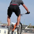 Stock Photo: Biker at skatepark