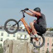 Biker at the skatepark — Stock Photo