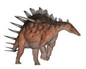 Kentrosaurus dinosaur walking - 3D render — Stock Photo
